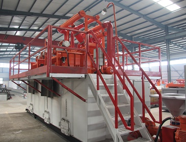 Side View of 500GPM HDD Mud Recycling System