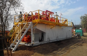 600GPM Mud Recycling System for HDD Construction in India